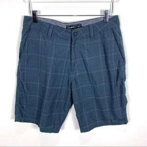 O'Neill plaid men's flat front shorts